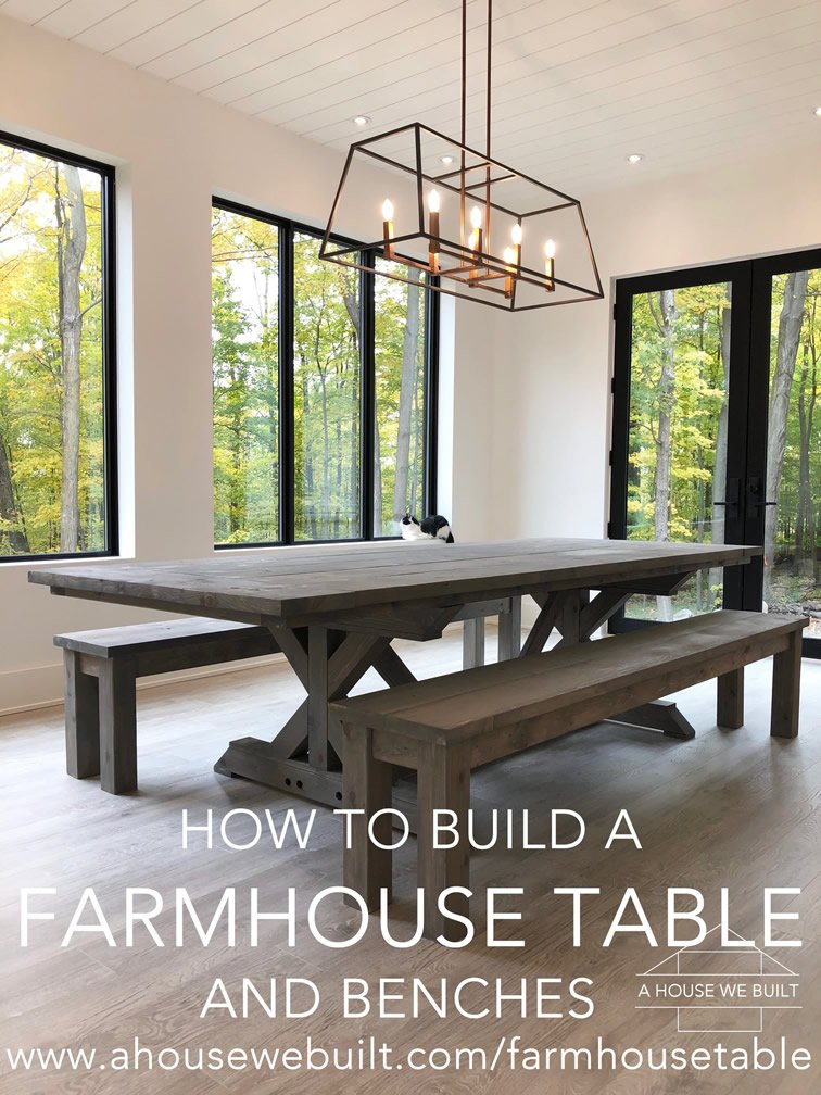Groovy How To Build A Farmhouse Table And Benches Dailytribune Chair Design For Home Dailytribuneorg