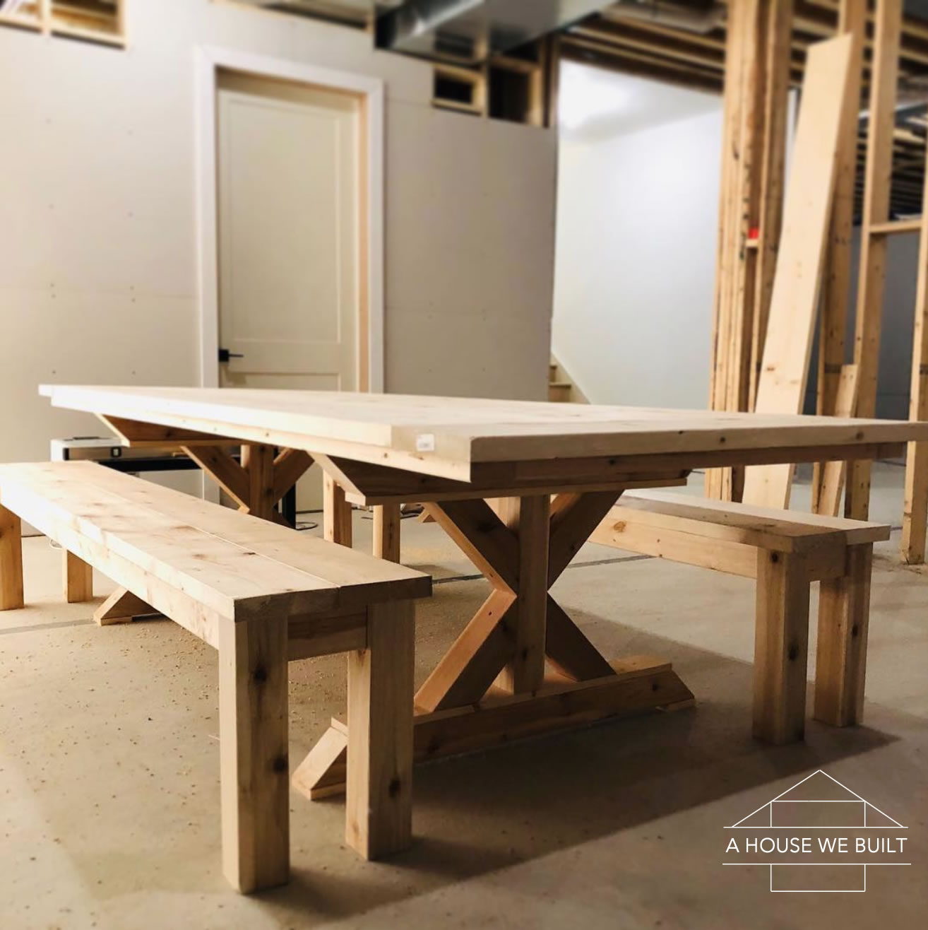 How To Build A Farmhouse Table And Benches