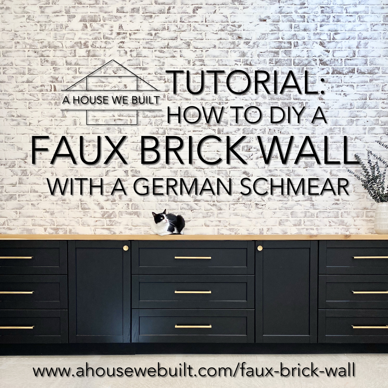 How To Diy A Faux Brick Wall With A German Schmear